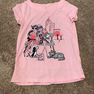 GYMBOREE pink graphic shirt sleeve t-shirt